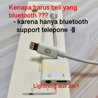 Lightning to AUX 3.5mm Headphone + Lightning iPhone 2 in 1 BLUETOOTH