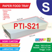 PTI-S21 Paper Tray Uk 8 x 16.5 x 3 cm Cetak 2 Warna Laminating 1 Sisi