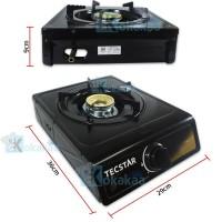 TecStar Kompor Gas Teflon Otomatis Stove Satu Tungku TG-388 CSTX -