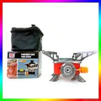 Kompor Gas kovar Camping Portable Mini Model Kotak outdoor