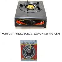 Kompor Gas 1 Tungku Bonus Selang Gas Paket Regulator Meter - Murah