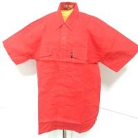 318-329* 15-19 tahun Kemeja baju pendek polos merah kuning anak cowo