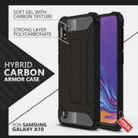 Armor Case Samsung A10 Soft Hard Softcase Hardcase Casing Cover Carbon