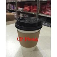 New Paper Cup | Gelas Kertas + Lid + Stirrer + Sleeve Uk. 8 oz (isi 50