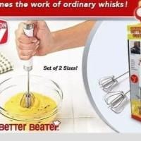 New Better Beater Kocokan Telur Pengocok Adonan Kue 1 Set Isi 2