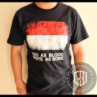 Murah Kaos Army Tactical Indonesia Tshirt Red As Blood White As Bone