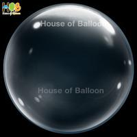 """Deco T Balloon 22"""" PVC Clear No Wrinkle Bubble Balon Transparan"""