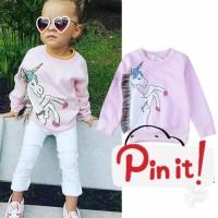 74f9093b41a5c7 Baju Anak Lengan Panjang/Sweater Anak/Sweater Bayi/Unicorn Pink