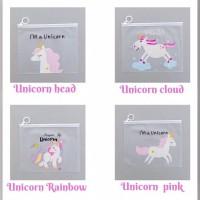 Tempat pensil Transparan Unicorn