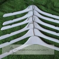 Hanger Plastik Putih/Hanger Butik