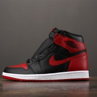 AIR JORDAN 1 High Retro Black Red 'BRED' (UNAUTHORIZED AUTHENTIC)