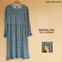 Dress Hamil Menyusui Lengan Panjang Mona