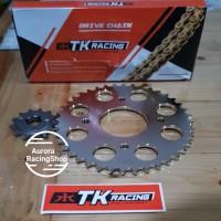 Gear Set TK Satria FU Face Lift / FU Fi & Rantai TK 415 S Gold