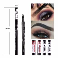 Lulaa import original fashion eyebrow ink pen sisir 24 hrs waterproof