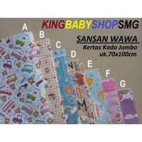 Kertas Kado Jumbo Sansan Wawa uk.70x100cm