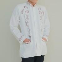 Baju Muslim Jaskoko Pria Dewasa Lengan Panjang Putih Tulang BW Modern