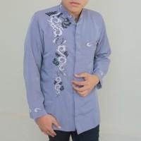 Fashion Muslim Pria Baju Jasko Jaskoko Modern Pendek Abu Gratis Ongkir
