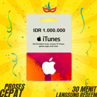 Apple Itunes Gift Card Indonesia - Rp.1.000.000