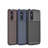 Vivo V15 - V15 Pro Softcase Carbon Armor Silicon Back Cover Soft Case