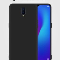 Oppo Reno Softcase Silicon Black Baby Skin Casing Back Cover Soft Case