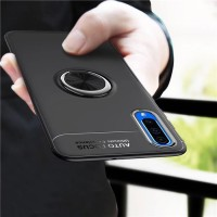 Samsung A70 A50 Softcase Magnetic Ring Original Back Cover Soft Case