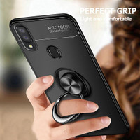 Samsung A10 A20 A30 A40 Softcase Magnetic Ring Back Cover Soft Case