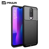 Oppo F11 Softcase Carbon Armor Rubber Silicon TPU Back Cover Soft Case
