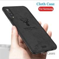 Samsung Galaxy A50 A70 Softcase Kanvas Rusa Jeans Back Cover Soft Case