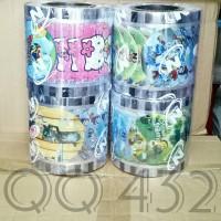 @1.200cup Tutup gelas plastik lid cup sealer press KARTUN dan POLOS