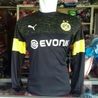 Kaos Baju Bola Jersey Atasan Bola Dortmund Tangan Panjang 2018 - 2019