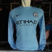 Kaos Baju Bola Jersey Atasan Bola M City Lengan Panjang