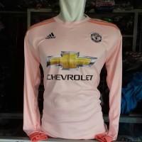 Kaos Baju Bola Jersey Atasan Panjang MU Pink Terbaru 2019
