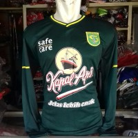 Kaos Baju Bola Jersey Persebaya Home Longsleve New Panjang 2019