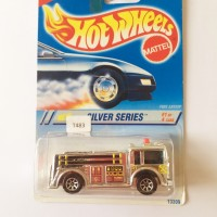 HOT WHEELS FIRE EATER SILVER SERIES CHROME OLD BASIC LIMITED CARD