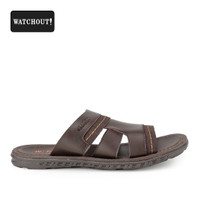 Sandal Pria Watchout Slip 82 Kasual Brown Original
