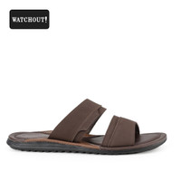 Sandal Pria Watchout Slip 83 Kasual Brown Original