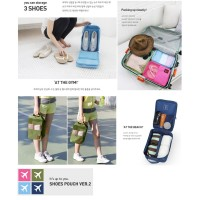 Korea Travel Shoe Pouch ver 2 Solid Color Tas Sepatu Organizer