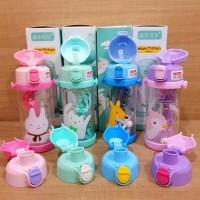Promo Botol Air Minum Anak Diller Tritan 100% Bpa Free Dual Cap - Pink