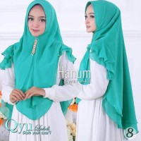 hot sale! jilbab instan hijab syari kerudung khimar ceruti sifon hanum