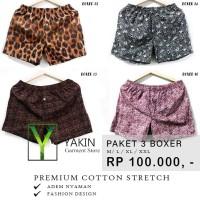 Sale Celana Pendek Boxer Katun - Cotton - Super Adem - Model Fashion -