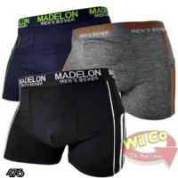 Terbaru K475 - Celana Dalam Boxer Pria - Madelon 9002 - Warna Mix -