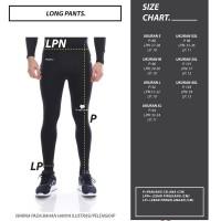 Paling Laris Tiento Baselayer Long Pants Typotype Black White Original