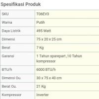 AC LG T 06 EV3 1 2 pk DUAL COOL INVERTER 0.5pk