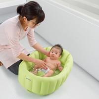 Richell Soft Baby Bath Green / Bak Mandi Bayi / Baby Bath Tub