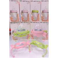 Comotomo Baby Bottle Holder Pink And Green