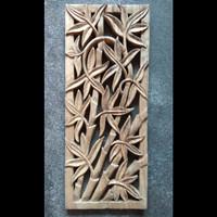 jual ukiran model bambu 20x50cm dekorasi hiasan dinding
