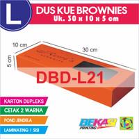 Dus Kue Brownies DUPLEKS 30 x 10 x 5 cm Cetak 2 Warna + Laminating