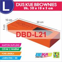 Dus Kue Kotak Brownies Duplex 30x10x5 cm Cetak 2 Warna + Laminating