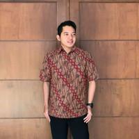 Kemeja Batik Pria Seragam Motif Parang Rusak Klasik