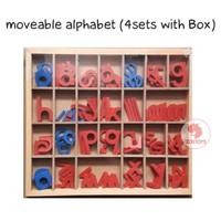Zoetoys Moveable Alphabet (with Box) 4 Sets | mainan edukasi | edutoys